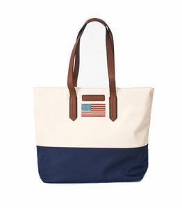 Martha Flag Handbag - Cream By Tello and Rose