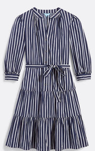 Striped Button Midi Dress By Draper James