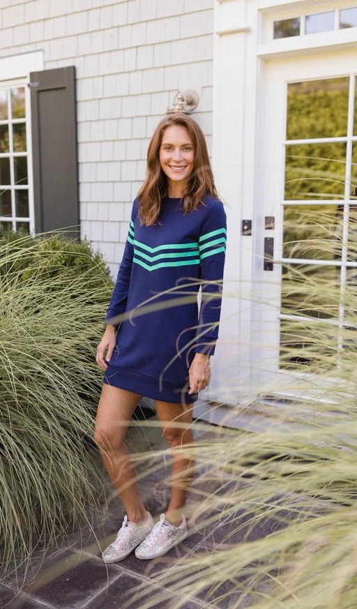 Striped Sweatshirt Dress By Sail To Sable