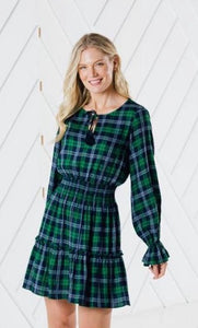 Plaid Tassle Dress By Sail to Sable