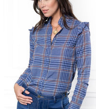 Load image into Gallery viewer, The Ruffle Collar Shirt By Rochelle, The Shirt