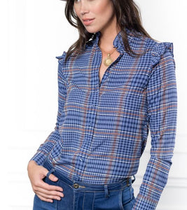 The Ruffle Collar Shirt By Rochelle, The Shirt
