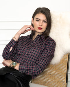 The Icon Shirt in Tartan Plaid By Rochelle, The Shirt