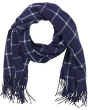Load image into Gallery viewer, Navy Plaid Classic Wrap
