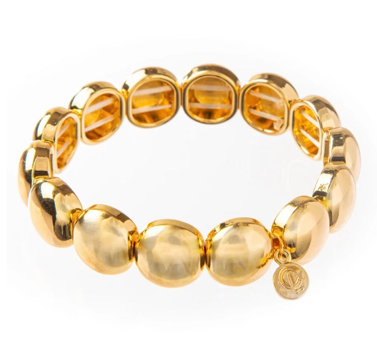 Bubble Bracelet- Gold 10mm By Caryn Lawn