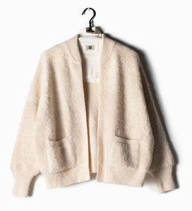 Ribbed Fleece Cardigan By Look By M