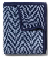 Harborview Herringbone Navy Blanket By Chappywrap