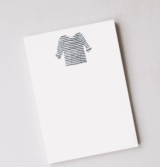Striped Shirt Notepad By Sara Fitz