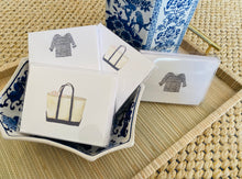 Load image into Gallery viewer, Navy and White Striped Shirt Notecards By Sara Fitz