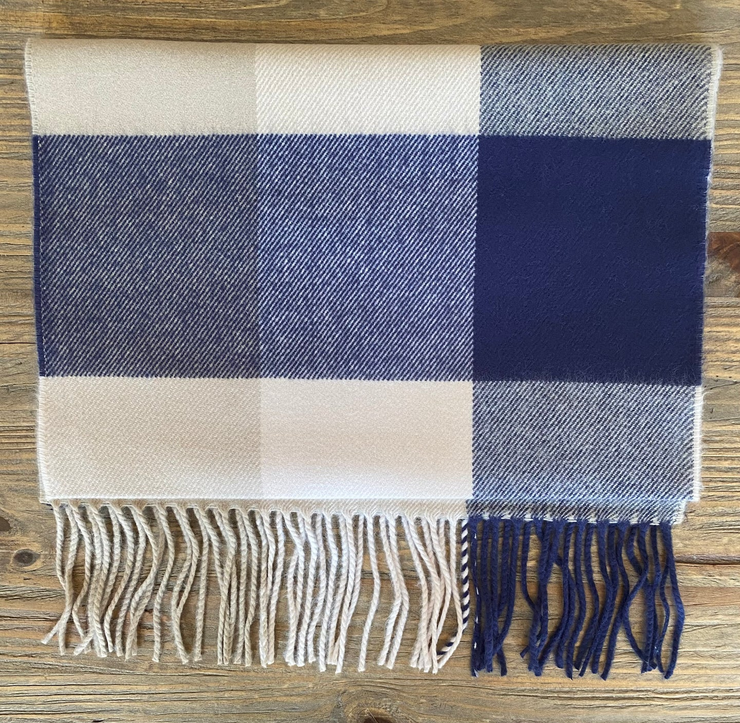 Softer Than Cashmere Blue Buffalo Plaid Scarf