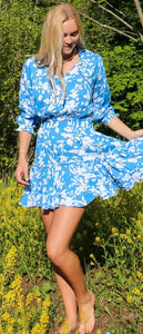 Ibiza Dress/ Cornflower Blue By Walker and Wade