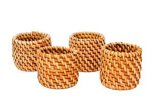 Rattan Napkin Ring Set