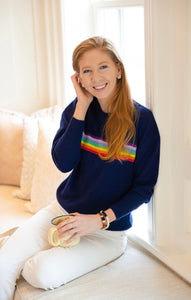 Rainbow Cashmere Sweater By navyBLEU