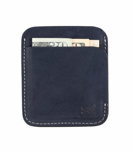 Portland Wallet - Navy By Belted Cow