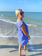 Load image into Gallery viewer, Brynn Short Sleeve Coverup by navyBLEU