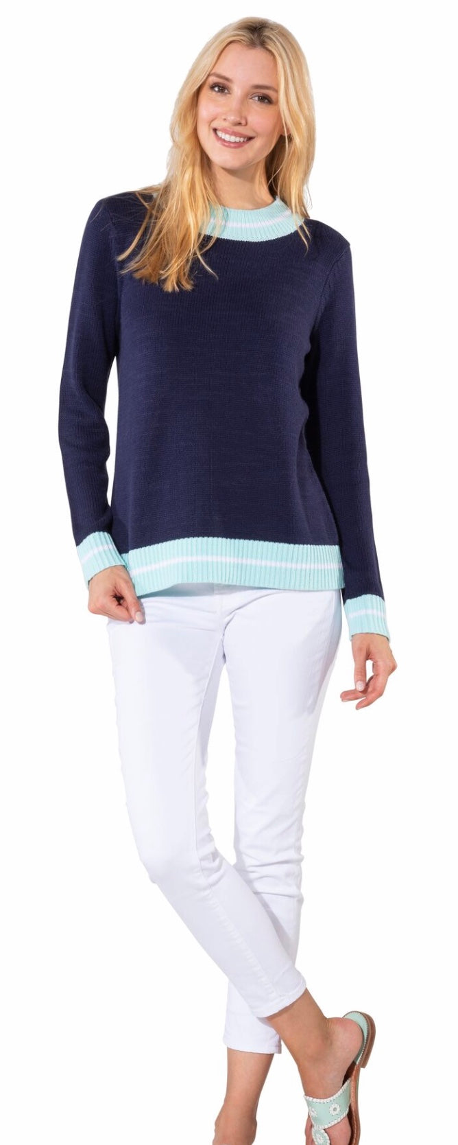 navy sweater sail to sable