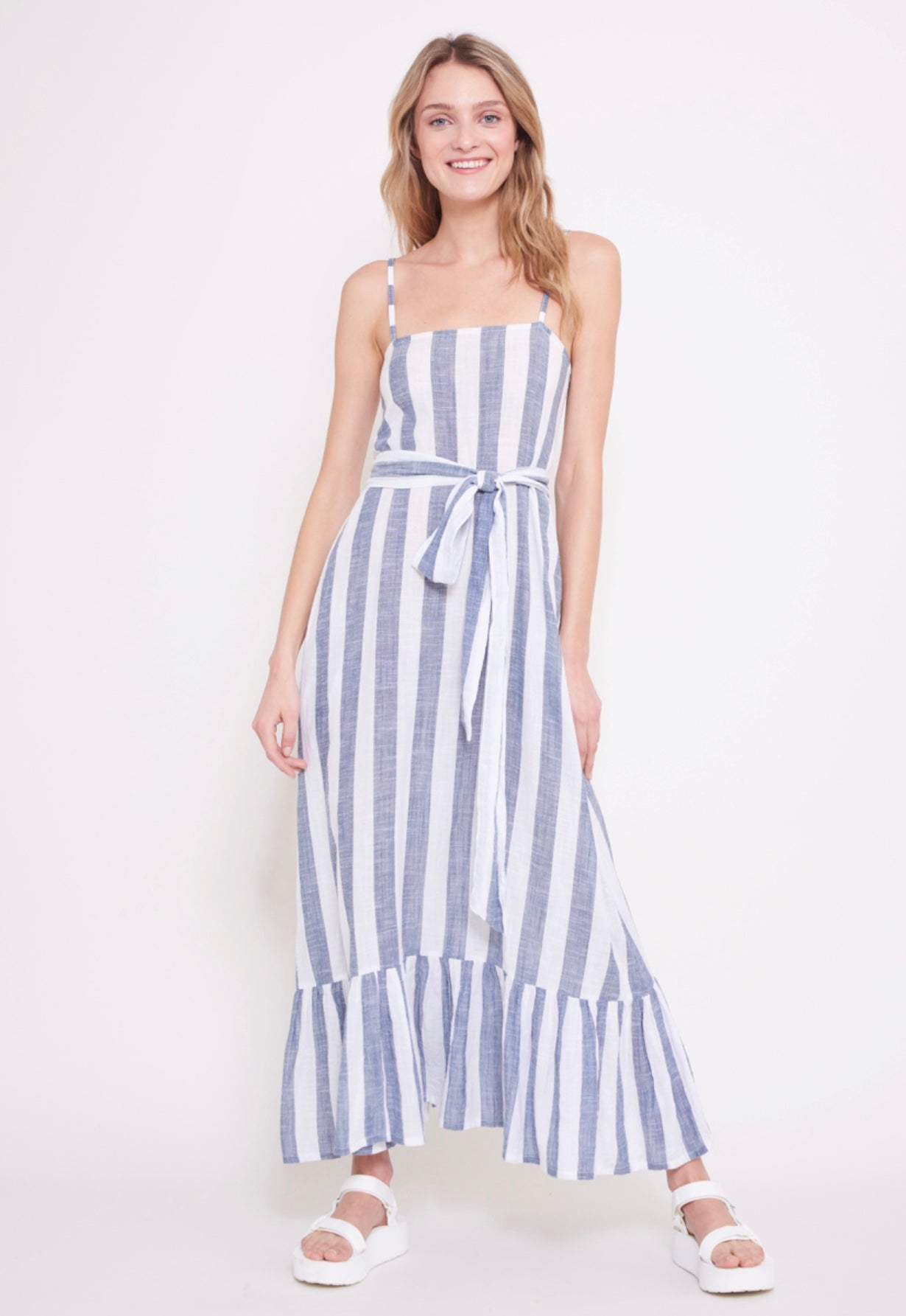 Long Blue and White Stripe Dress Roller Rabbit