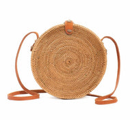 Ata Handwoven Rattan Circle Bag - Luna