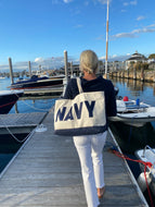 navyBLEU Tote By Crab and Cleek