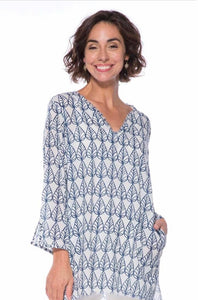 Willow Navy Cotton Pocket Cover-Up