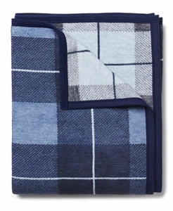 Sea Watch Plaid Blue Blanket By ChappyWrap