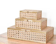 Natural Cane Wicker Jewelry Decor Box
