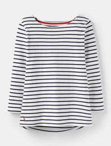 Cream Harbour Jersey Top By Joules