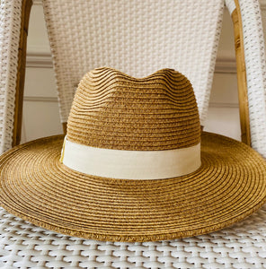 Flat Brim Packable Fedora Hat