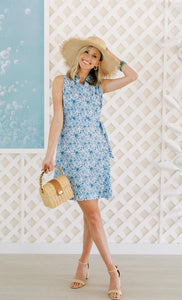 Wrap Dress in Blooming Blue By Duffield Lane