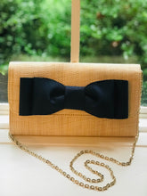 Load image into Gallery viewer, Avery Clutch with Navy Bow By Lisi Lerch
