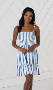 Stripe Spaghetti Strap Dress By Sail to Sable