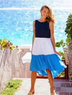 Colorblock A-Line Dress By Southern Tide