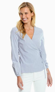 Seersucker Performance Wrap Top By Southern Tide