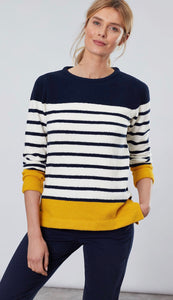 Seaham Navy/Gold Chenille Sweater By Joules