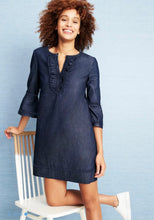 Load image into Gallery viewer, Chambray Ruffle Shift Dress By Draper James