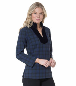 Plaid Tunic Top By Sail to Sable