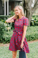 Short Sleeve Bow Waist Love Circle Dress By Draper James