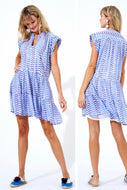 Sonoma Blue Roll Sleeve Dress By Oliphant