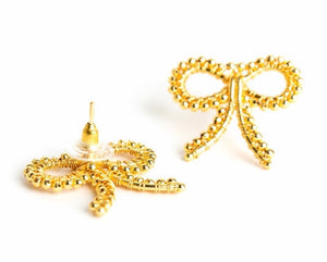 Bow Gold Earrings By Lisi Lerch