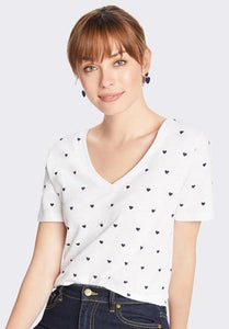 Heart V Neck Slub Tee By Draper James