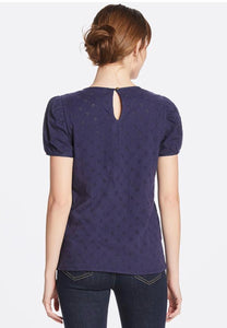 Puff Sleeve Eyelet Top By Draper James