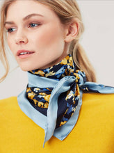 Load image into Gallery viewer, Bloomfield Square Silk Scarf By Joules