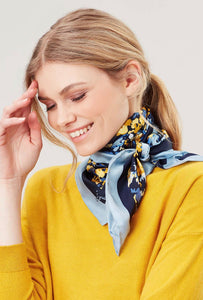 Bloomfield Square Silk Scarf By Joules