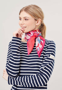 Bloomfield Silk Square Scarf By Joules