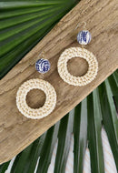 Rattan Chinoiserie Earrings
