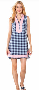Plaid Sleeveless Classic Tunic Dress By Sail to Sable