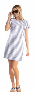 Stretch Cotton Short Sleeve Dress By Sail to Sable