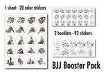 BJJ Booster Pack - 113 Stickers