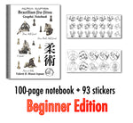 Brazilian Jiu-Jitsu Graphic Notebook - Beginner Edition