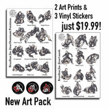Brazilian Jiu-Jitsu Positions - New Art Pack